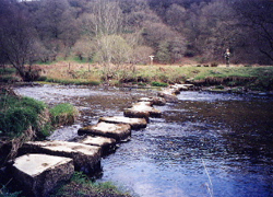 Stepping stones over the River Barle